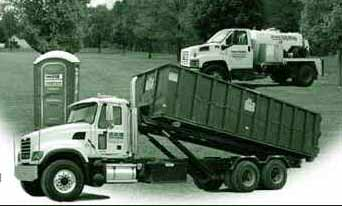 BSS Waste services metal recycling, trash pickup, roll-off containers, portable restrooms